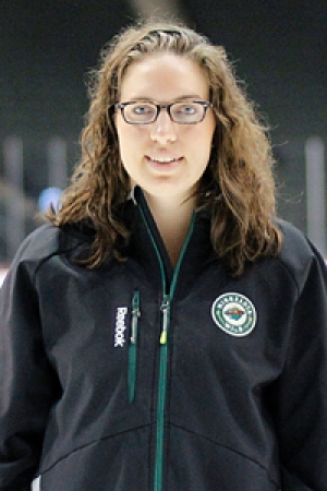 Alexandra Mandrycky, ISyE grad and hockey operations analyst for the Minnesota Wild