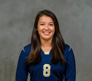 Rebecca Martin, ISyE senior and Tech volleyball setter (photo credit: Georgia Tech Athletics)