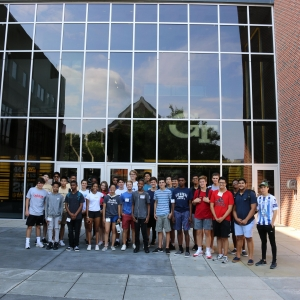 High school students participating in Mission Possible toured Georgia Tech's athletic facilities as part of the camp.