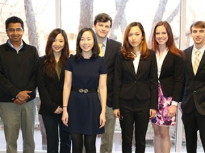 The Monsieur Senior Design team, which was one of the five ISyE finalists of the ISyE Senior Design competition.