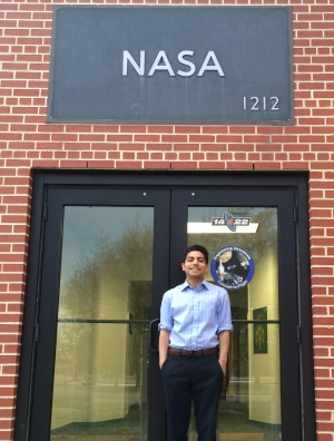 Sachin Mehta Outside the NASA Engineering Directorate