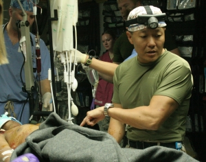 Dr. Peter Rhee performing surgery