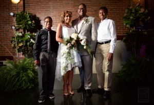 Errika Moore with her family