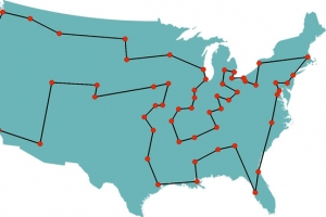 Bill Cook's suggested routes for the traveling salesman
