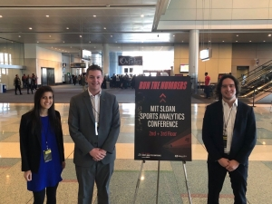 Members of the Sports Business Club attended the Sloan Sports Analytics Conference in February.