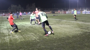 Matias Sandoval Playing Soccer (Green Jersey #10)