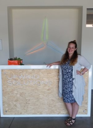 ISyE alumna Trisha Long at Upwind HQ