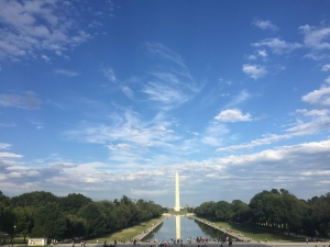 The Washington Monument, one of the many places Muiz Wani visited as an intern in Washington, D.C.